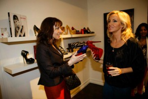 Camille Grammer w/ Red Daffodile by Crystal Heels