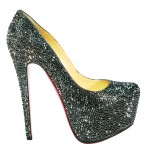 Christian Louboutin Daffodile Hematite Crystal Shoes