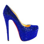 Christian Louboutin Daffodile Blue Crystal Shoes