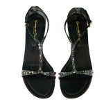 Gianvito Rossi Black Crystal Flats