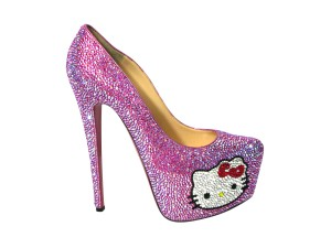 Hello Kitty Christian Louboutin Crystal Daffodil Pumps