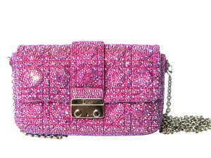 Dior bag with fuchsia crystals by Crystal Heels