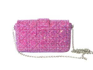 Crystal Christian Dior purse customized by Crystal Heels