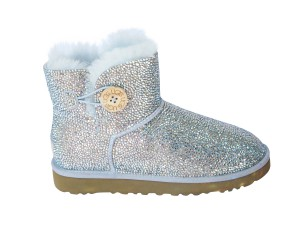 Blue UGG boots with crystals