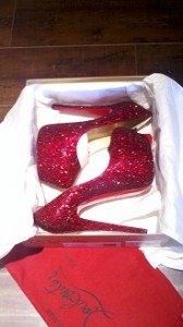 Christian Louboutin Daffodile in Red Swarovski Crystals