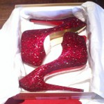 Christian Louboutin Daffodile Red Crystal Pumps