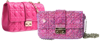 Custom Dior Purse with Pink Crystals