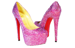 Custom Pink Crystal Christian Louboutin Daffodiles are Here!