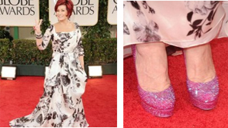 Sharon Osbourne Wore Our Shoes to the Golden Globe Awards!