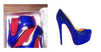 New In: Christian Louboutin Daffodile in Deep Blue Swarovski Crystals