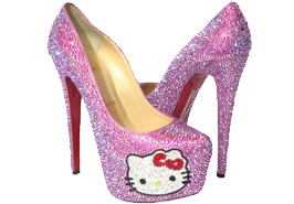 Hello Kitty Christian Louboutin Daffodile Crystal Shoes