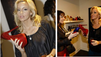 Camille Grammer is Into Our Shoes!  AMOREphosis Event at StyleHaus