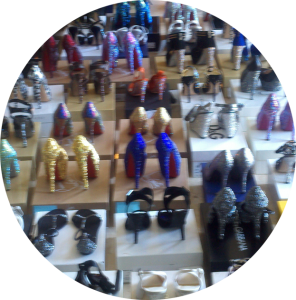 Crystal Shoes all lined up and ready for action