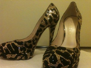 Casadei Crystal Shoes in Leopard