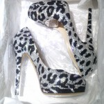Crystal Shoes in Leopard Black & Silver - Casadei