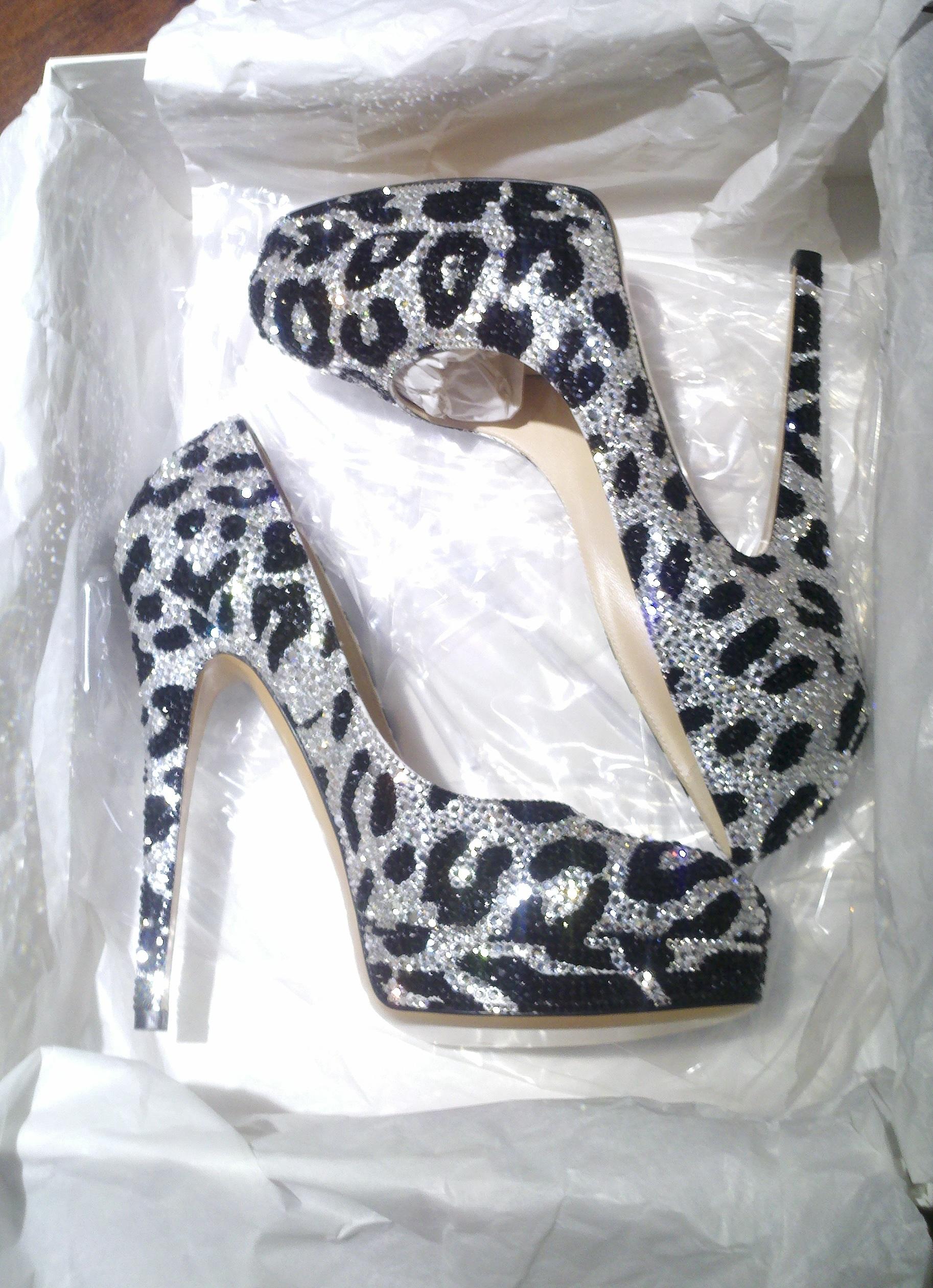 Crystal Silver Heels
