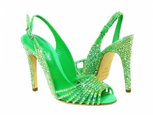 Jade Sergio Rossi Crystal Shoes